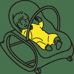 産後トレーニングOK!のイラスト