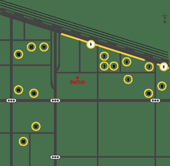 Switch周辺のコインパーキング情報マップ